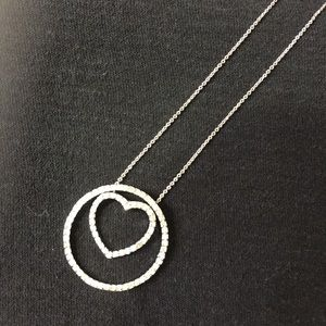 Diamond 1.00 CT. Heart Necklace Sterling Silver